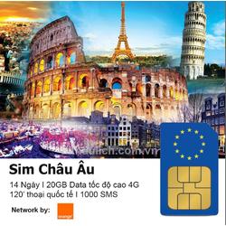 SIM Du Lịch Châu Âu Orange
