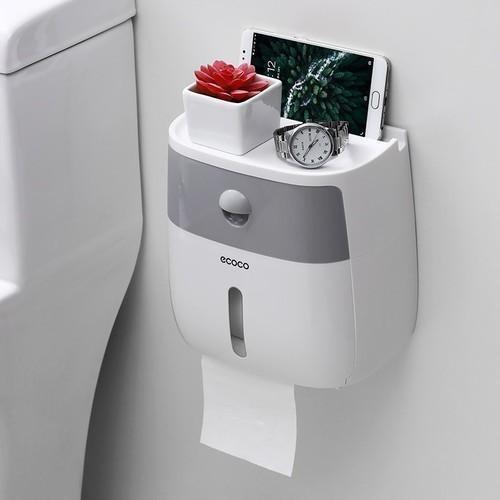 Hộp đựng giấy vệ sinh đa năng cao cấp ecoco - màu phối ngẫu nhiên