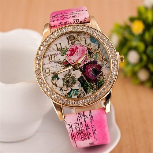 Đồng hồ thời trang nữ họa tiết hoa hồng phong cách châu âu cực đẹp dh93 - 19814628 , 24969654 , 15_24969654 , 89000 , Dong-ho-thoi-trang-nu-hoa-tiet-hoa-hong-phong-cach-chau-au-cuc-dep-dh93-15_24969654 , sendo.vn , Đồng hồ thời trang nữ họa tiết hoa hồng phong cách châu âu cực đẹp dh93