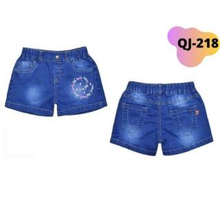 Quần short jean bé gái từ 10-25kg. Chất jean, quần lưng thun thoải mái cho bé vận động _Red Ant kids - QJ-218 thumbnail