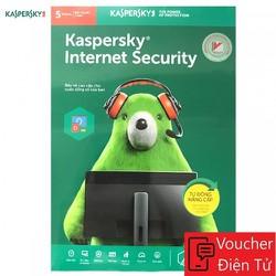 Mã code Phần mềm Kaspersky Internet Security 5PC 1 năm ver 2020- KIS5U