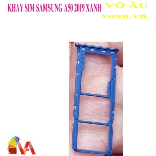 Khay sim samsung a50 2019 màu xanh