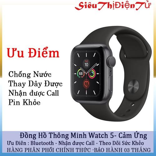Đồng hồ thông minh watch 5 chống nước theo dõi sức khỏe - đồng hồ watch 5 còn nhận cuộc gọi thông báo các tin nhắn - 19818353 , 24974199 , 15_24974199 , 690000 , Dong-ho-thong-minh-watch-5-chong-nuoc-theo-doi-suc-khoe-dong-ho-watch-5-con-nhan-cuoc-goi-thong-bao-cac-tin-nhan-15_24974199 , sendo.vn , Đồng hồ thông minh watch 5 chống nước theo dõi sức khỏe - đồng hồ w