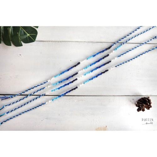 Staircase ombre blue vòng tay và chân handmade từ chỉ phụ kiện đi biển vòng tay mệnh thuỷ