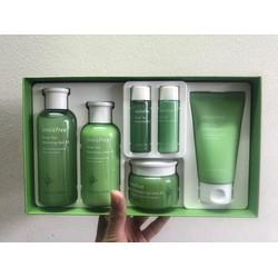Bộ Dưỡng Trà Xanh Innisfree Green Tea balancing skin  6 món.