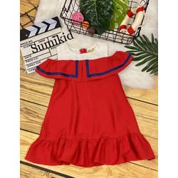 Đầm rớt vai xinh yêu cho bé gái, size 11-45kg.