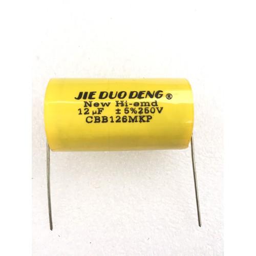 Combo 50 con tụ phân tần loa treble 12mf 250v - vàng tròn
