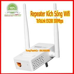 Thiết bị kích sóng WiFi Repeater TOTOLINK EX200 giá cực rẻ