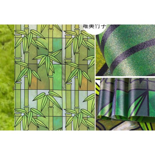Giấy dán kính cây trúc xanh khổ 90