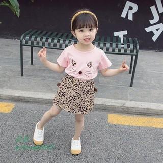 [NHẬP SD189D GIẢM 20K ] Sét bộ váy mèo dành cho bé gái 1-5 tuổi - Váy mèo thumbnail