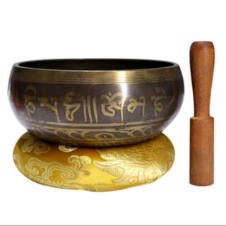 Pháp khí phật giáo Nepal bát tụng kinh, thiền thiền bát âm trị liệu, bát phật bát đồng chũm đường kính 10cm 206756 - 206756 thumbnail