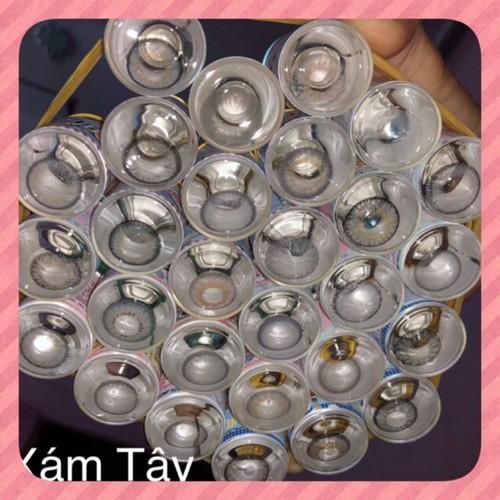 Lens áp tròng có độ cận từ 0 5 7 độ nhiều màu