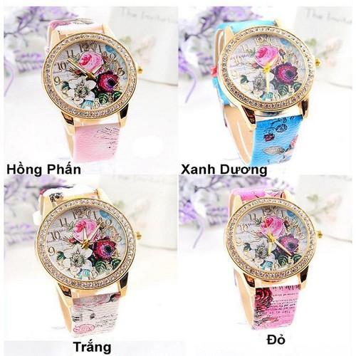 Đồng hồ thời trang nữ họa tiết hoa hồng phong cách châu âu cực đẹp dh93 - 19816526 , 24972037 , 15_24972037 , 120000 , Dong-ho-thoi-trang-nu-hoa-tiet-hoa-hong-phong-cach-chau-au-cuc-dep-dh93-15_24972037 , sendo.vn , Đồng hồ thời trang nữ họa tiết hoa hồng phong cách châu âu cực đẹp dh93