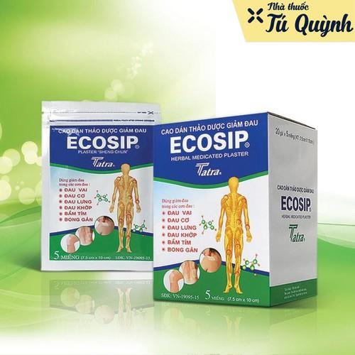 Ecosip cao dán thảo dược giảm đau nhà thuốc tú quỳnh