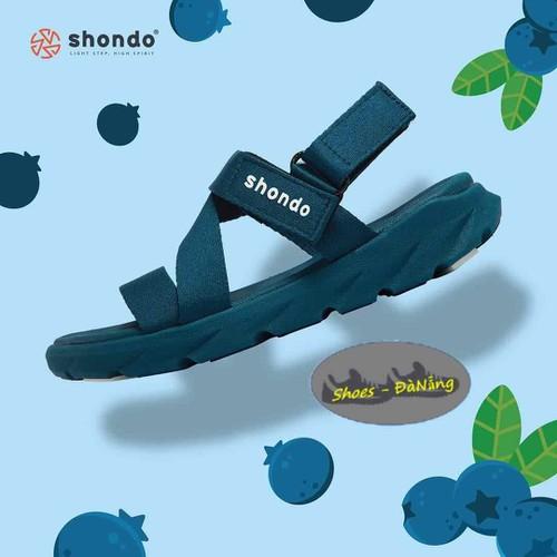 Giày sandan shondo xanh việt quất - sandal shondo chính hãng - bảo hành 12 tháng