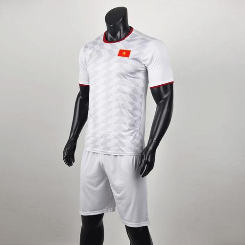 Quần áo bóng đá đội tuyển việt nam trắng -thun lạnh