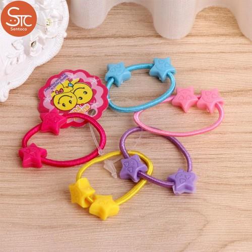 Trợ giá túi 50 dây thun buộc tóc nhiều màu sắc cho bé gái eefy1
