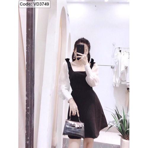 Đầm nữ phối tay voan lt59