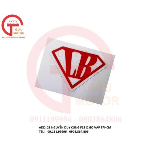 Miếng tem logo nhỏ chữ lb dán tráng trí xe máy. bền đẹp