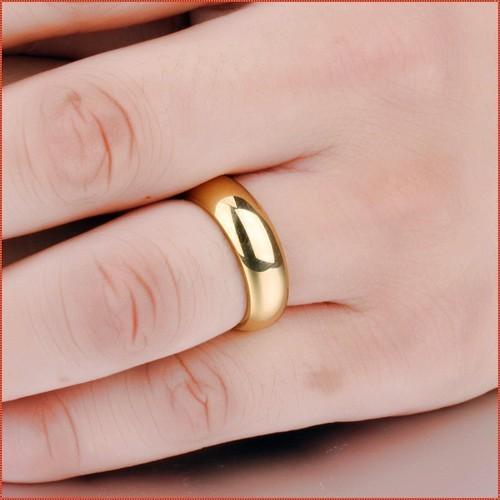 {Xả kho} nhẫn đôi trơn giữ tình yêu siêu bền
