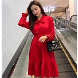 Váy nữ cổ nơ phong cách Hàn quốc cực xinh, cực dễ thương