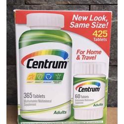 Vitamin Tổng Hợp Centrum Adults Multivitamin cho người dưới 50