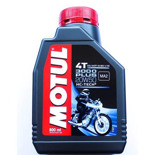 Dầu nhớt xe máy 0.8 lít motul 3000 plus 20w50 bán tổng hợp sj ma2