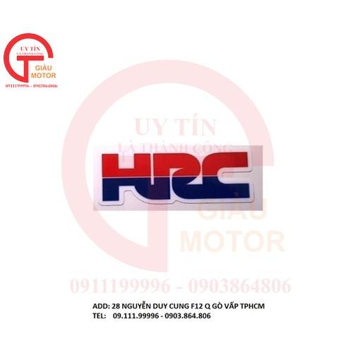 Miếng tem logo nhỏ chữ hrc dán tráng trí xe máy. bền đẹp