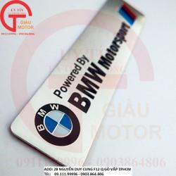 MIẾNG TEM NHÔM LOGO-BMW MÀU BẠC DÁN XE MÁY CHỐNG NHIỆT VÀ NƯỚC.TẶNG KÈM MIẾNG TEM DECAL DÁN XE.