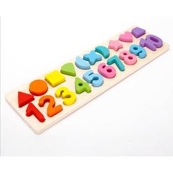Bảng gỗ thông minh, bảng gỗ hình học và số 2 trong 1