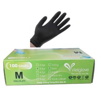 Găng tay y tế không bột VietGlove Xanh Đen [ĐƯỢC KIỂM HÀNG] 25024250 - 25024250 thumbnail