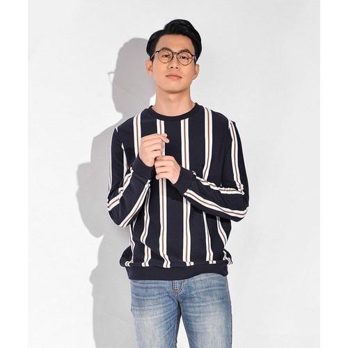 Áo thun routine - sweatshirt at tay dài nam kẻ sọc dọc màu xanh đen - 19869162 , 25036376 , 15_25036376 , 390000 , Ao-thun-routine-sweatshirt-at-tay-dai-nam-ke-soc-doc-mau-xanh-den-15_25036376 , sendo.vn , Áo thun routine - sweatshirt at tay dài nam kẻ sọc dọc màu xanh đen