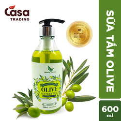 Sữa Tắm Oliu Dưỡng Ẩm Sáng Da Onemy Olive Shower Gel 600ml xuất Châu Âu