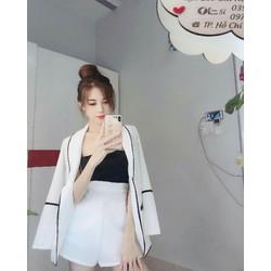 Bộ áo vest quần ngắn xinh đẹp