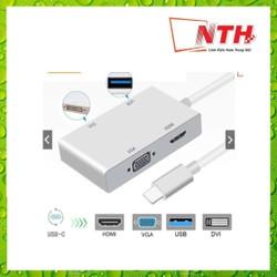 Cáp Chuyển Type-C ra HDMI,VGA,DVI,USB 3.0