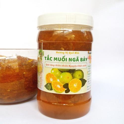 [Hũ siêu to khổng lồ 1 ký] tắc muối đường giòn dai chua chua ngọt ngọt giải nhiệt - đặc sản địa phương - quà tặng cho sức khỏe