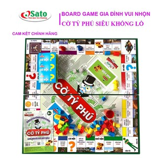 Bàn Cờ Tỷ Phú Monopoly Hãng Sato Việt Nam Loại Lớn - SATO038 thumbnail