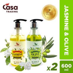 Combo 2 chai Sữa Tắm Onemy Jasmine Shower Gel và Olive Shower Gel 600ml xuất Châu Âu