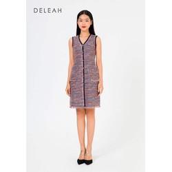 De Leah - Đầm Ôm A Tweed Kẹp Tua Rua - Thời trang thiết kế