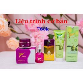 Combo YLAGY 3 sản phẩm Kem Face YLAGY - Serum YLAGY - Sữa rữa mặt YLAGY - B01