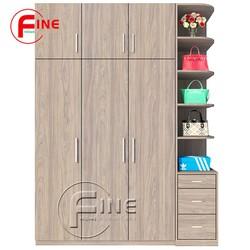 Tủ Quần Áo FINE FT044 Kích thước Ngang 1m8 x Cao 2m6, Có nhiều ngăn để túi xách, gỗ MFC ngoại nhập chất lượng