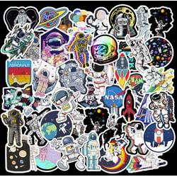 Sticker DU HÀNH VŨ TRỤ nhựa PVC không thấm nước, dán nón bảo hiểm, laptop, điện thoại, Vali, xe, Cực COOL #16
