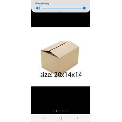 20 thùng  giấy  gói  hàng  20x14x14