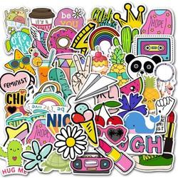 Sticker NICE nhựa PVC không thấm nước, dán nón bảo hiểm, laptop, điện thoại, Vali, xe,  Cực COOL #32
