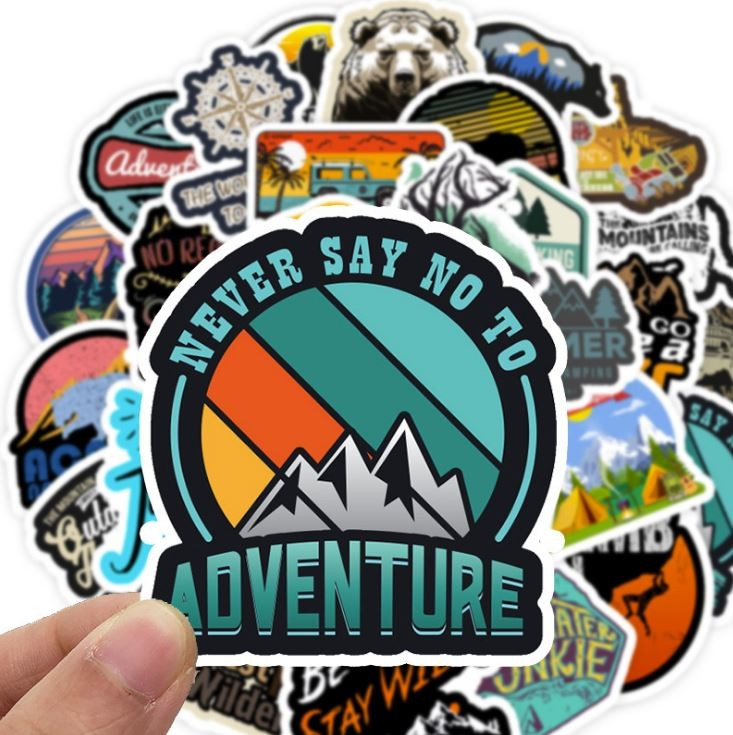 Sticker DU LỊCH PHIÊU LƯU nhựa PVC không thấm nước, dán nón bảo hiểm, laptop, điện thoại, Vali, xe,  Cực COOL #36