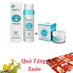 [Tặng 20 Bao Lì Xì Hot Trend] Kem Kích Trắng White Body và Kem Dưỡng Trắng Da Mặt White Face - Hàn Quốc