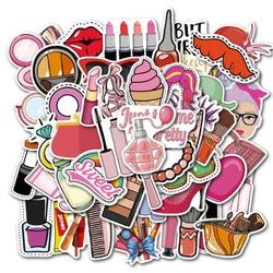 Sticker PHONG CÁCH CÔ GÁI  nhựa PVC không thấm nước, dán nón bảo hiểm, laptop, điện thoại, Vali, xe,  Cực COOL #13