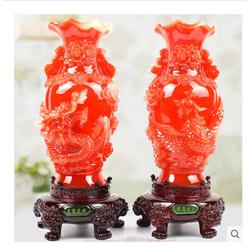 CẶP BÌNH HOA CHẠM TRỔ RỒNG &PHƯƠNG PHONG THỦY HIỆU Fu Shan Tang