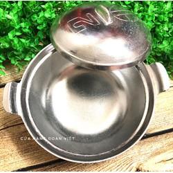 Nồi Gang BÓNG kho THỊT CÁ Size18cm. Dụng cụ bếp ĐA NĂNG nấu cơm, kho. Phù hợp cho bửa ăn đâm chất TRUYỀN THỐNG DÂN TỘC VIỆT