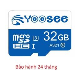 Thẻ Nhớ Yoosee 32Gb Tốc Độ Cao Class 10 U3 Bảo Hành 24 Tháng
